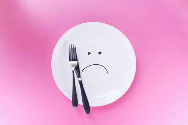 Manque d'appétit pas faim